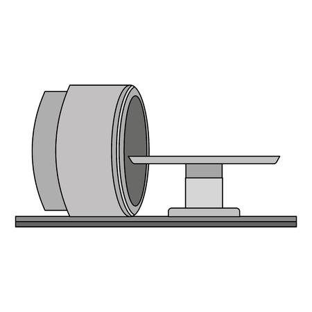 Tomography 스캐너 기계 아이콘 일러스트 레이션 디자인