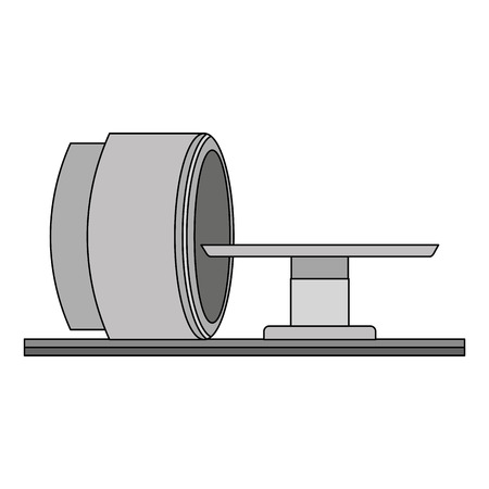 Tomography scanner machine icon  illustration design