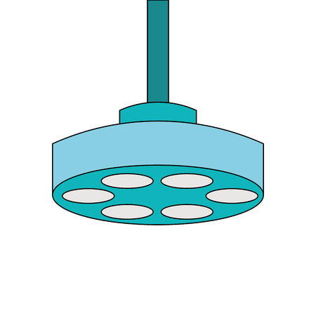 Medical operating lamp icon illustration design