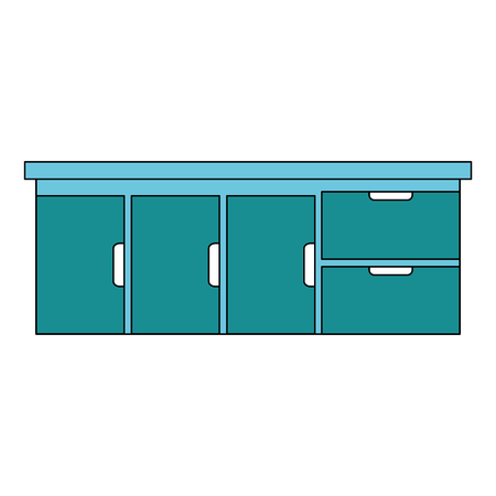 Hospital drawer isolated icon illustration design