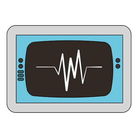 Electrocardiogram monitor isolated icon illustration design