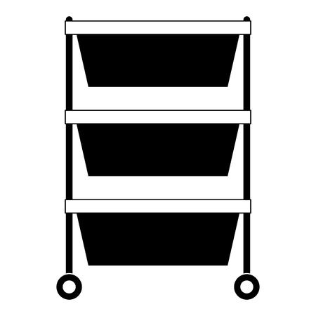 Hospital operating drawer isolated icon  illustration design Illustration