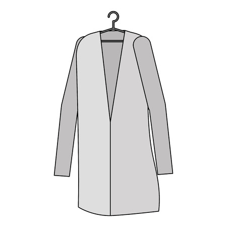 Doctor coat hanging icon vector illustration design