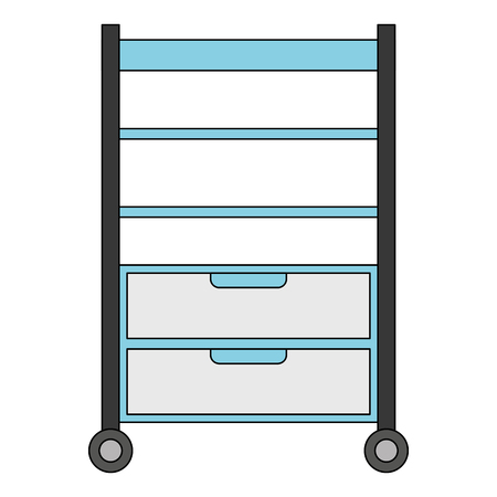 Hospital operating drawer isolated icon vector illustration design Illustration