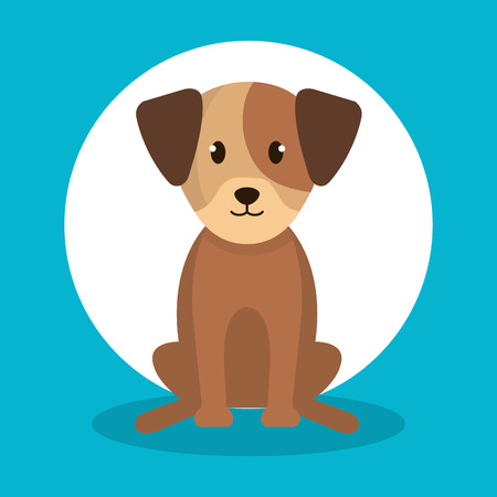 Cute dog isolated icon vector illustration design. Illustration