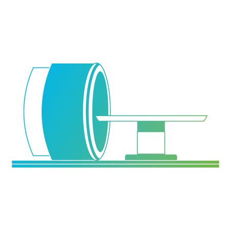 断層撮影スキャナーのアイコンベクトルイラストデザイン。