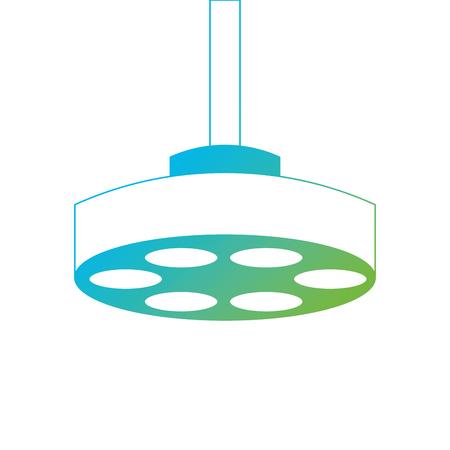 operating theater lamp icon vector illustration design