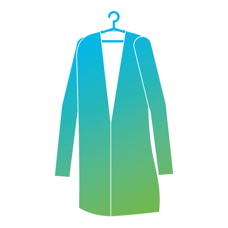 Doctor coat hanging icon vector illustration design. Ilustração