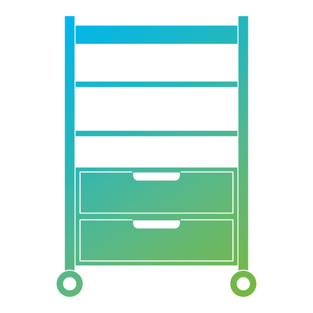Hospital operating drawer isolated icon  illustration design Illusztráció