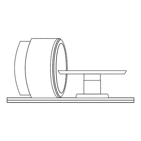 Tomography scanner machine icon in thin line illustration design Illustration