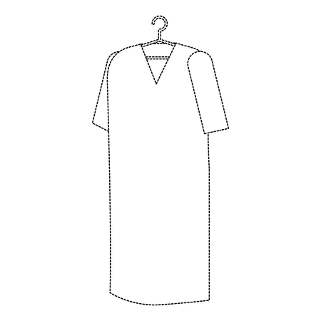 Patients coat hanging icon in thin line illustration design
