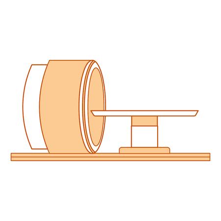 tomography scanner machine icon vector illustration design Illustration