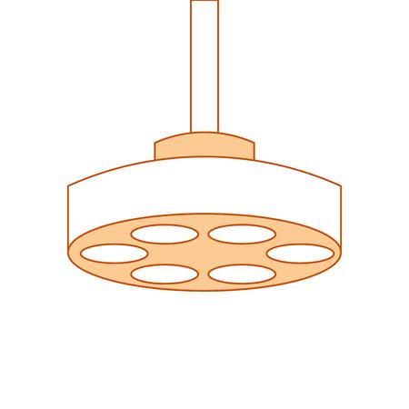 Progettazione dell'illustrazione di vettore dell'icona della lampada della sala operatoria Archivio Fotografico - 92513869