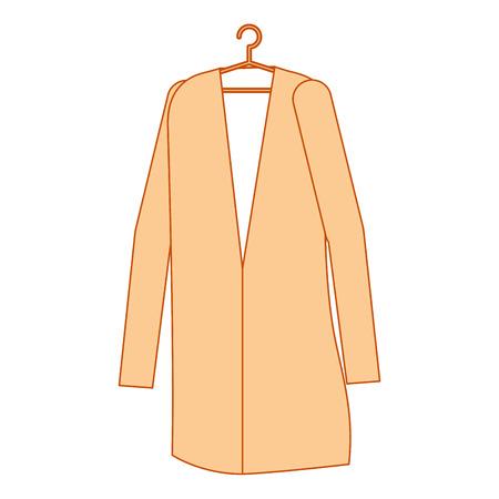 doctor coat hanging icon vector illustration design