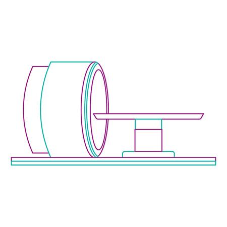 Progettazione dell'illustrazione di vettore dell'icona della macchina dello scanner di tomografia Archivio Fotografico - 92513922
