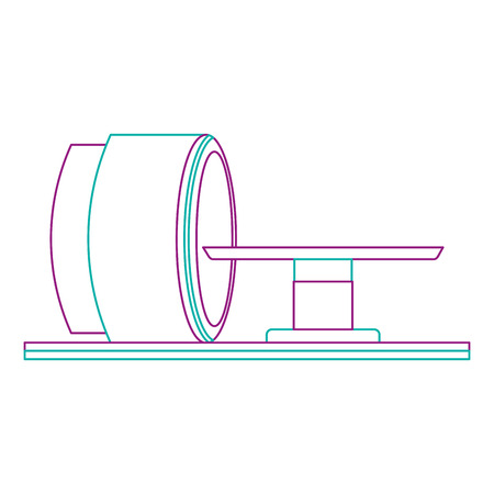 tomography scanner machine icon vector illustration design Vectores