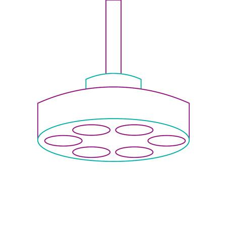 Progettazione dell'illustrazione di vettore dell'icona della lampada della sala operatoria Archivio Fotografico - 92513920
