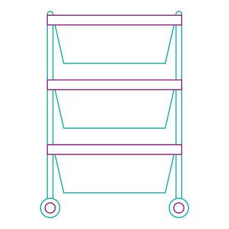 Hôpital exploitation tiroir isolé conception d'icône vector illustration. Banque d'images - 92514004
