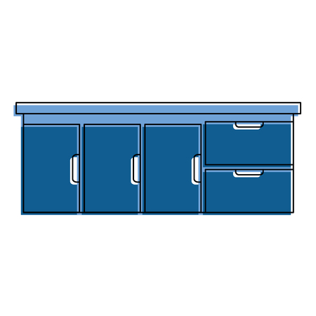 hospital drawer isolated icon vector illustration design