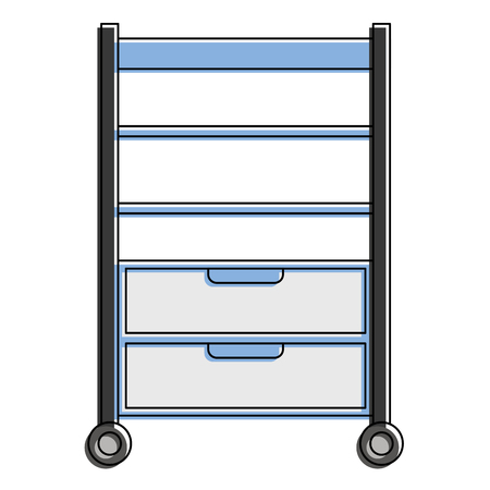 hospital operating drawer isolated icon vector illustration design Banque d'images - 92514030