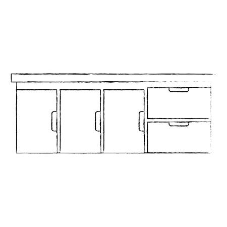 Tiroir hôpital isolé icône vector illustration design Banque d'images - 92514039