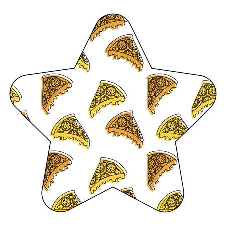 Naadloze het patroon vectorillustratie van de snel voedselpizza.