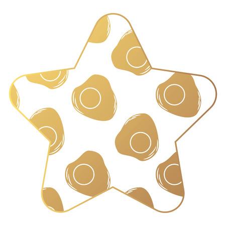 eggs fried breakfast food seamless pattern vector illustration