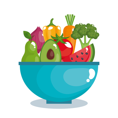 Healthy food set icons vector illustration design