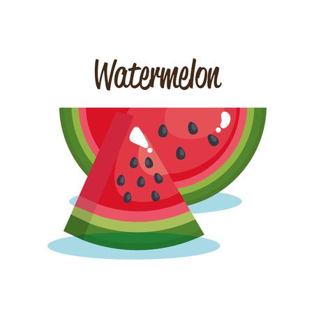 Watermelon fruit fresh icon vector illustration design.