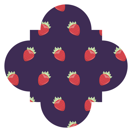 Frame with blackberries pattern background vector illustration design.