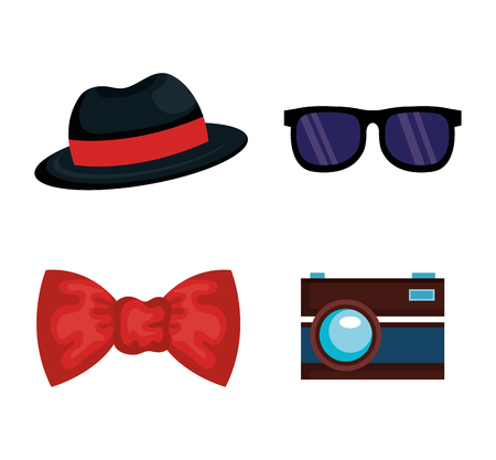 Hipster style accessories icon vector illustration design. Illustration