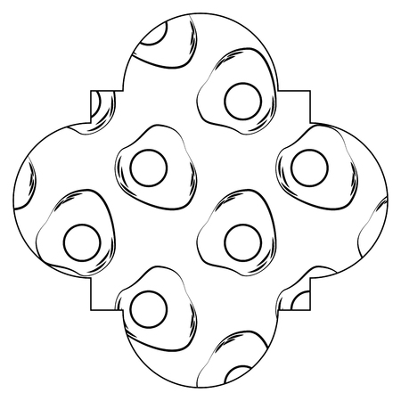 frame with eggs pattern background vector illustration design 向量圖像
