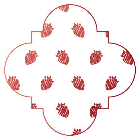 Frame with blackberries pattern background vector illustration design Imagens - 92516355