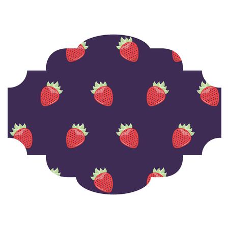 Kader met van het braambessenpatroon vector de illustratieontwerp als achtergrond