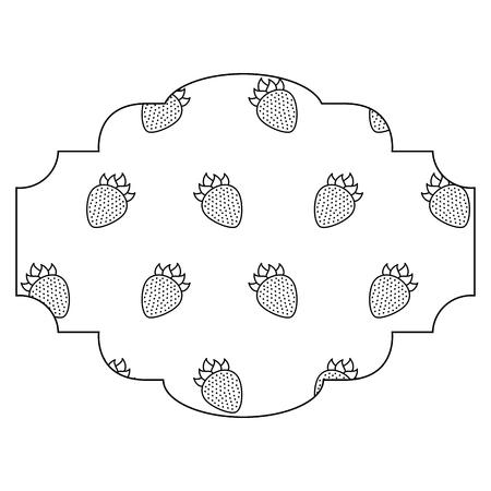 ブラックベリーパターン背景ベクトルイラストデザインのフレーム