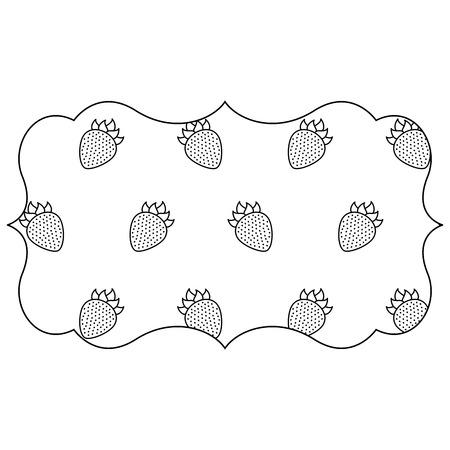 frame with blackberries pattern background vector illustration design 向量圖像