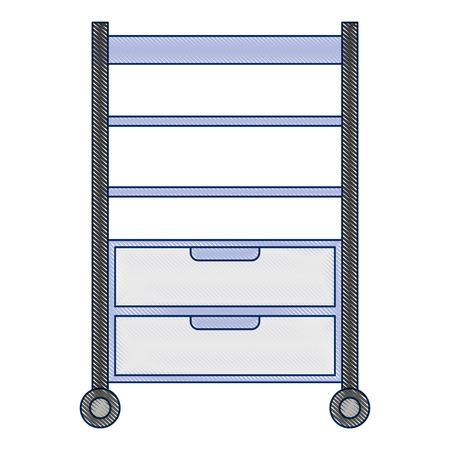 Hôpital exploitation tiroir isolé icône vector illustration design Banque d'images - 92517830