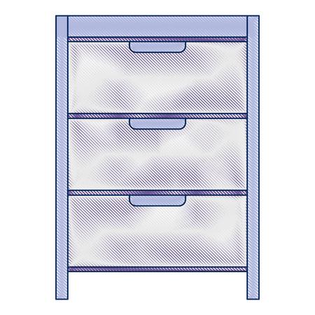 Hôpital exploitation tiroir isolé icône vector illustration design Banque d'images - 92517829