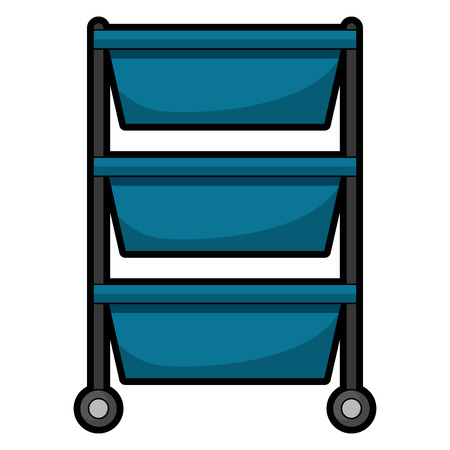 hospital operating drawer isolated icon vector illustration design