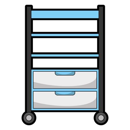Hôpital exploitation tiroir isolé icône vector illustration design Banque d'images - 92517915