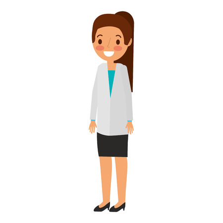 doctor woman avatar character vector illustration design