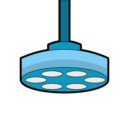 operatiekamer lamp pictogram vector illustratie ontwerp