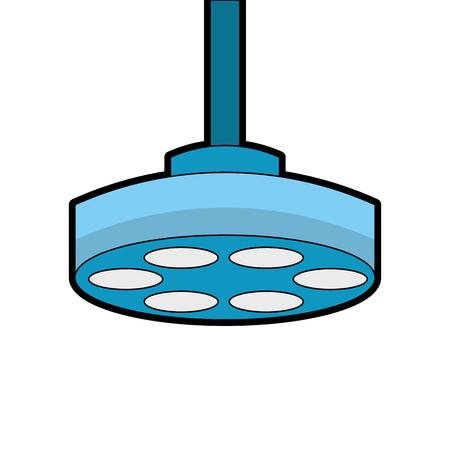 Progettazione dell'illustrazione di vettore dell'icona della lampada della sala operatoria Archivio Fotografico - 92518260