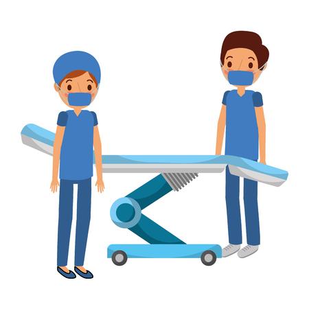 dental stretcher with professional medical vector illustration design