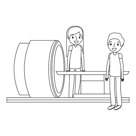 Macchina dell'analizzatore di tomografia con l'illustrazione professionale medica di vettore. Archivio Fotografico - 92519072