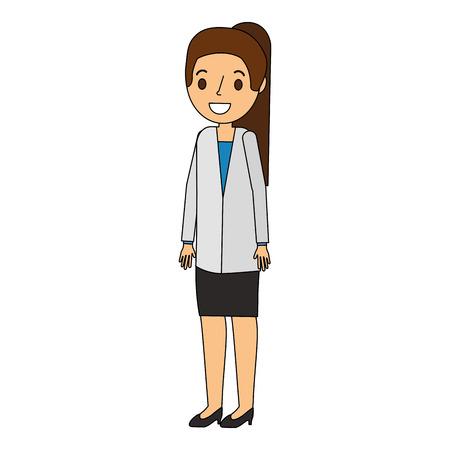 doctor woman avatar character vector illustration design