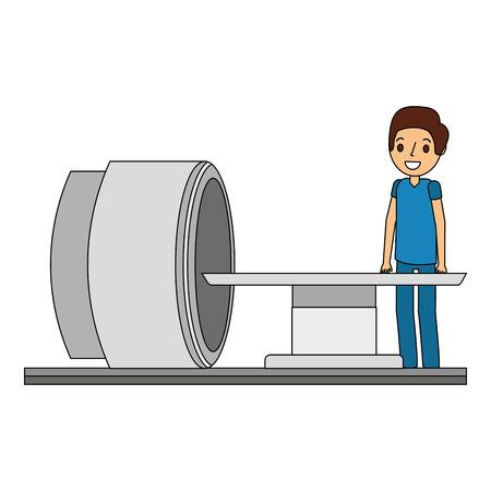 의료 전문 벡터 일러스트 레이 션과 tomography 스캐너 기계