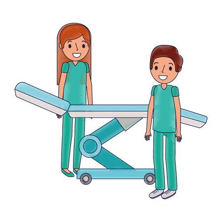 Dental Bahre mit professionellen medizinischen Vektor Illustration Design Standard-Bild - 92524443
