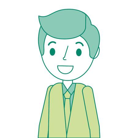 Diseño del ejemplo del vector del carácter del avatar del hombre del doctor.
