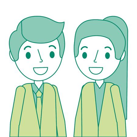 Doctors couple avatars characters vector illustration design. Stock Vector - 92553332